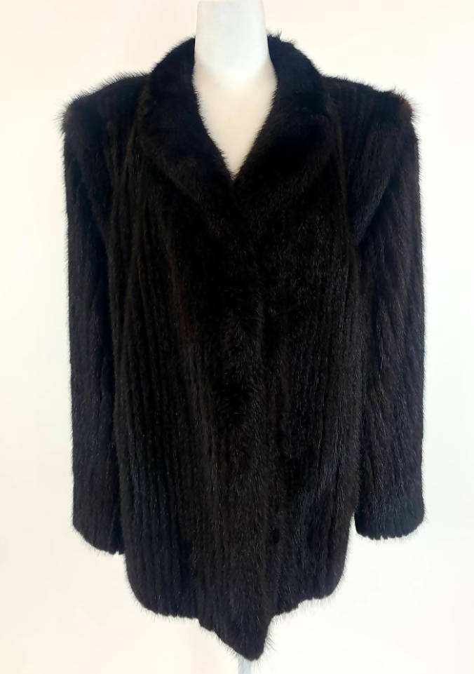 SAGA Mink Coat sz14 Fur - Vintage dress/clothing