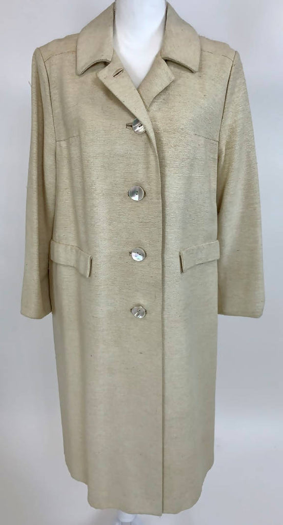 I Magnin Silk Cream Duster Coat DC020 - Vintage dress/clothing