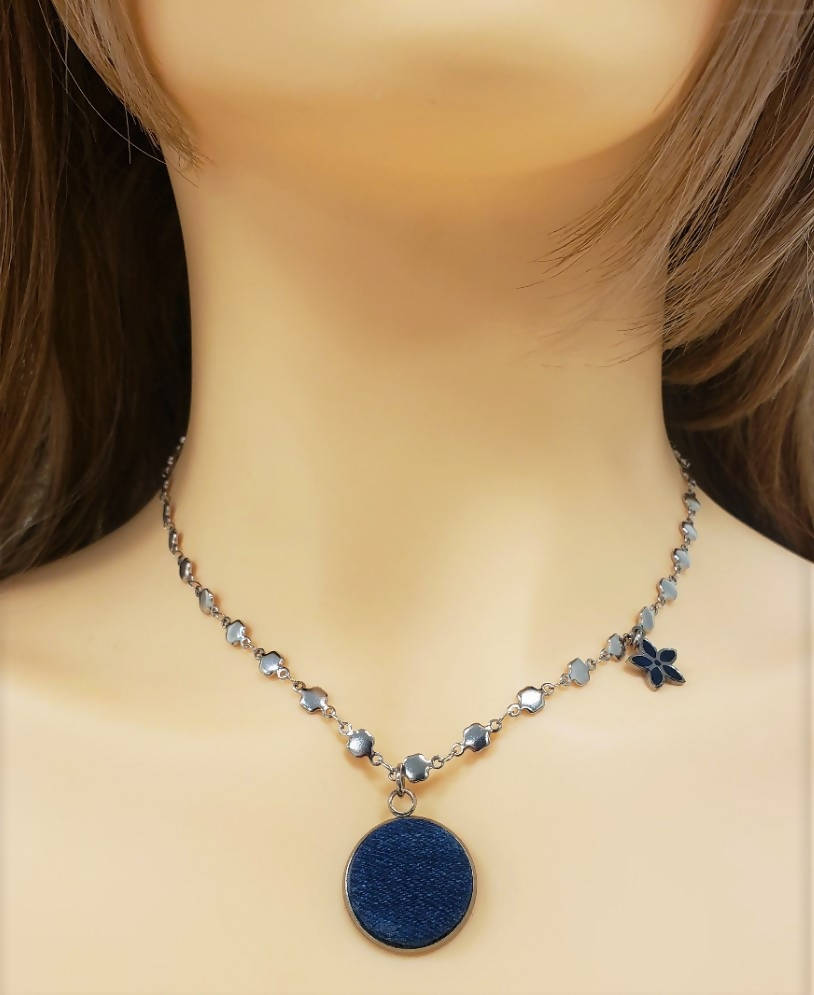 Denim necklace - SN103
