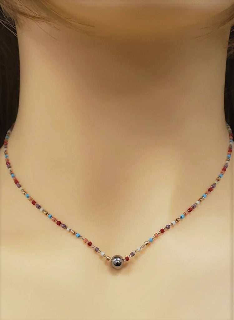 Glass bead necklace - SN107