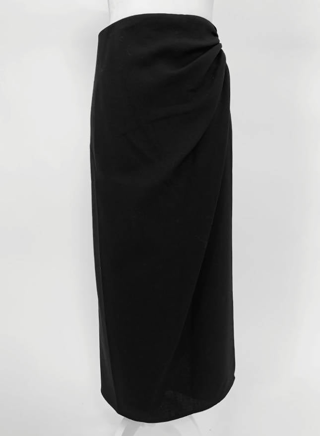 Valentino Miss V Black Skirt/009 SZ-10 (vintage dress/clothing)