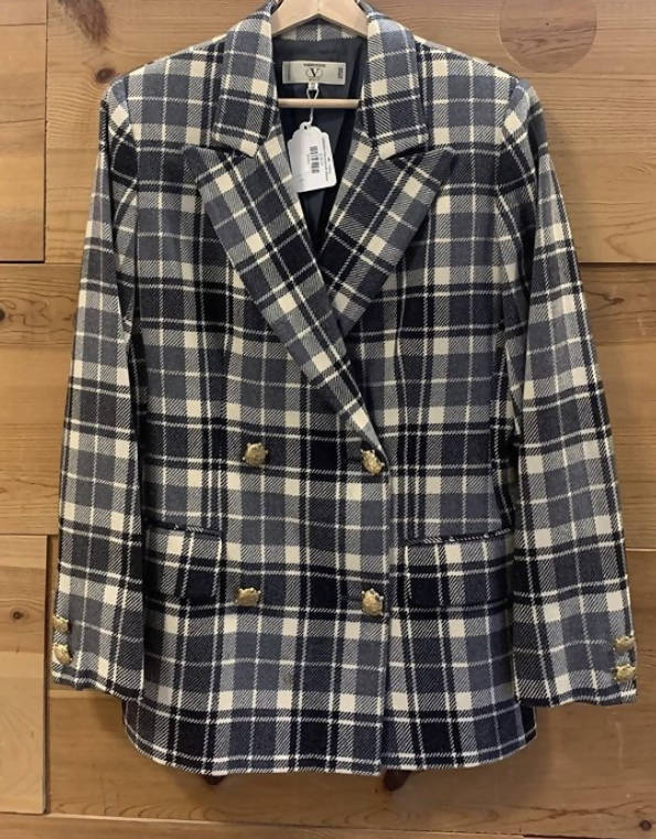 Valentino Houndstooth Blazer SZ-10 (vintage dress/clothing)