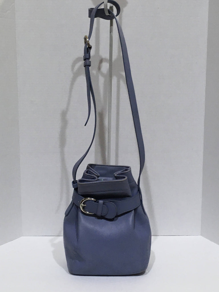Bag Vintage Coach blue bucket style leather