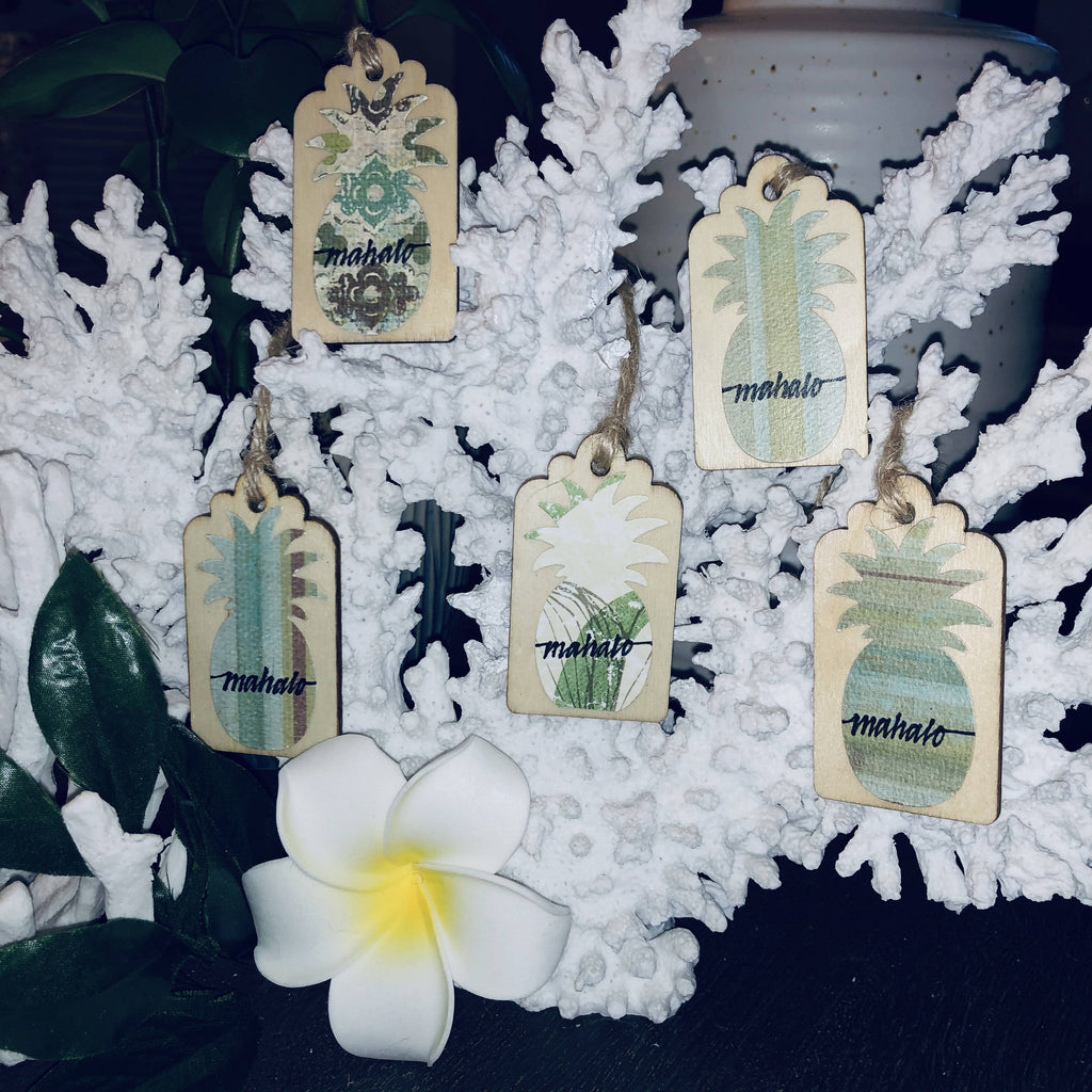 GIFT TAGS - Mini Wood Tags (Mahalo)