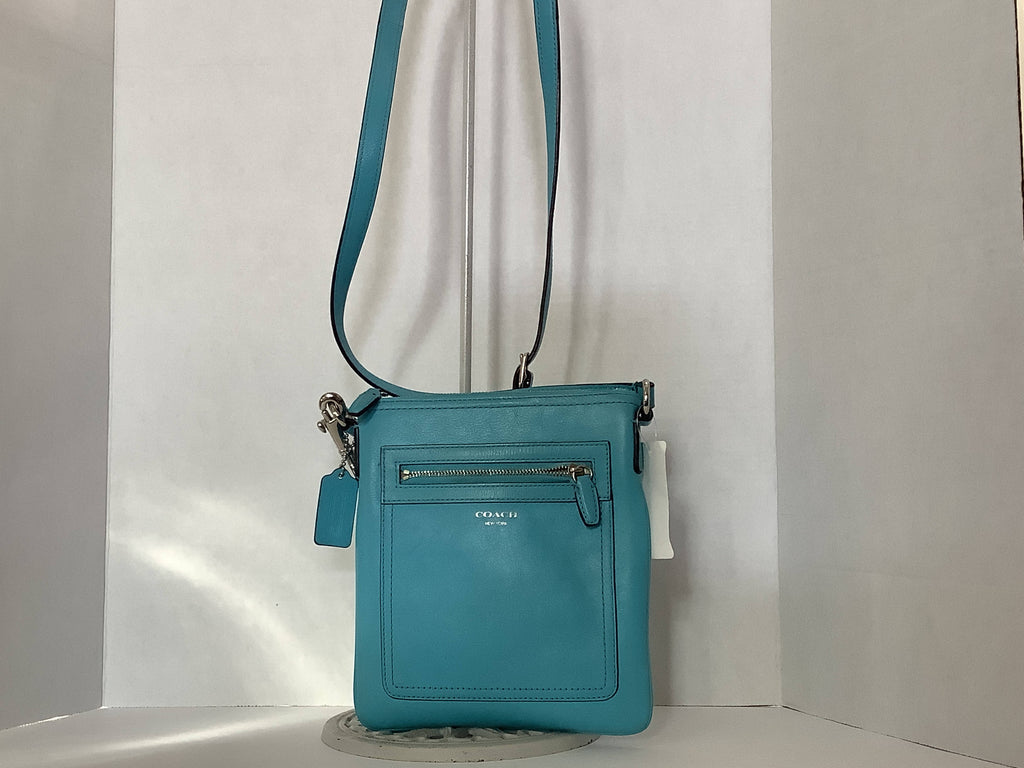 Bag Coach Turquoise Leather Cross Body
