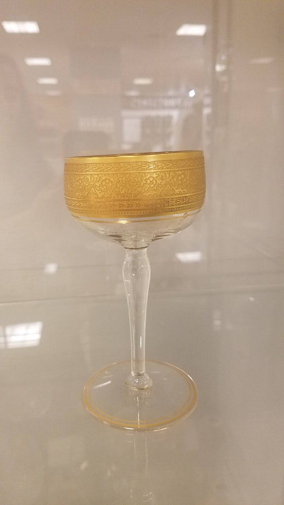 Gold trimmed wine glasses