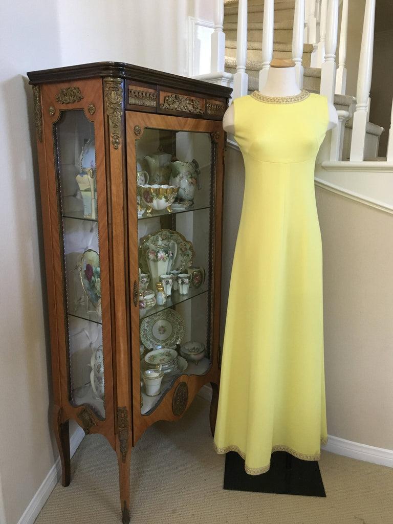 A Vintage yellow dress 1960's custom made
