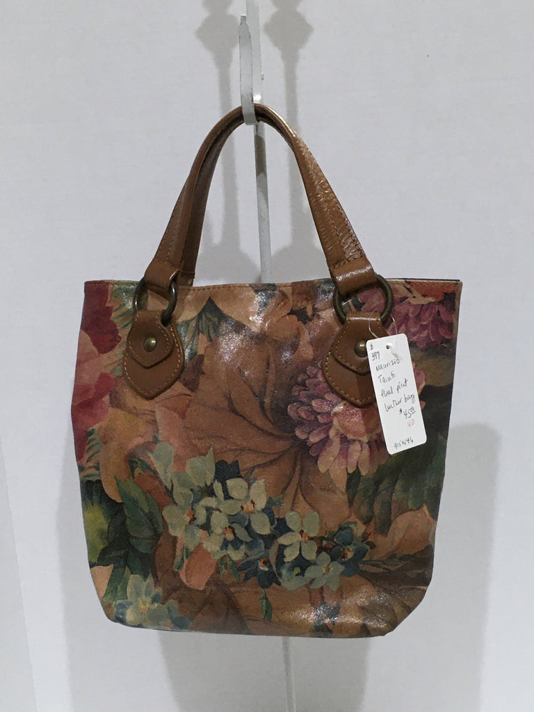 Bag Mauricio Taiuti floral print leather