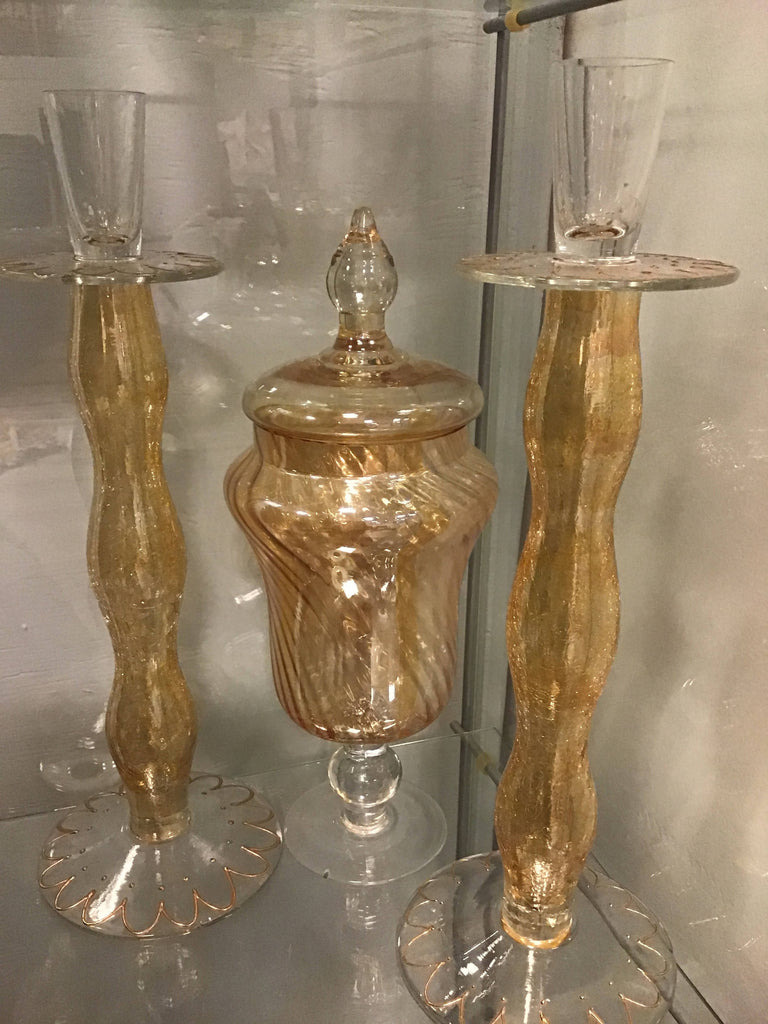 Gold candlesticks set-3piece