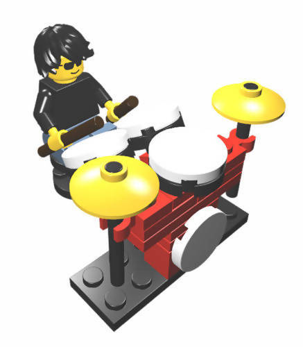Constructibles Drummer and Drum Kit