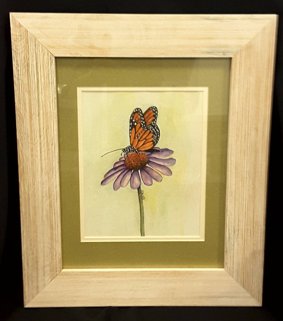 Butterfly painting watercolor