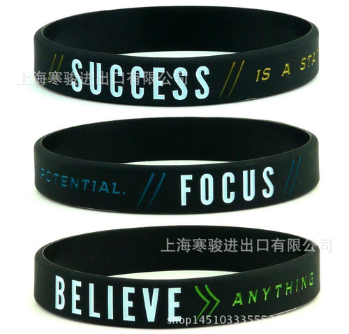 Motivational Silicone Sports Bracelets - Sport Performance Improvement Tools