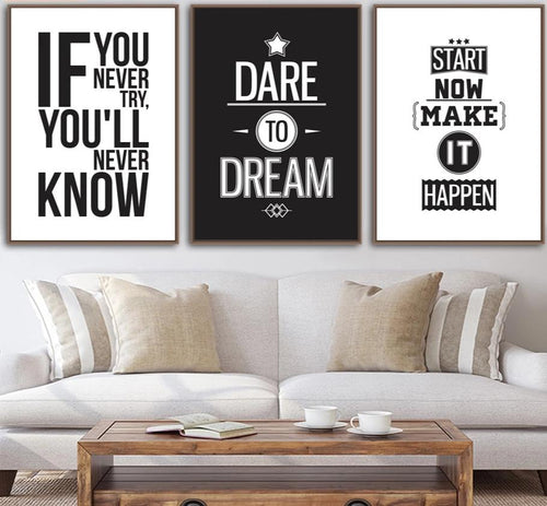 Motivational Inspiring Quotes Wall Art - Sport Performance Improvement Tools