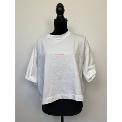 White Boxy T-shirt by Acne