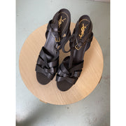 Black High Heel Sandals by Yves Saint Laurent