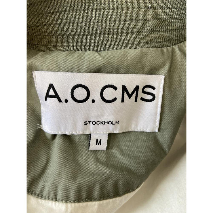 Army Green Bomber Jacket by A.O.CMS