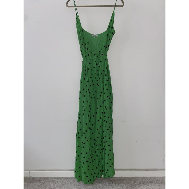 Dainty Georgette Green Maxi Dress by Ganni