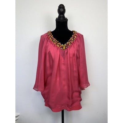 Fuschia Silk Blouse by Catherine Malandrino