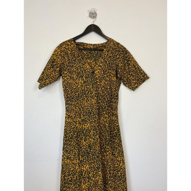 Vintage Printed Handmade Shirt Dress