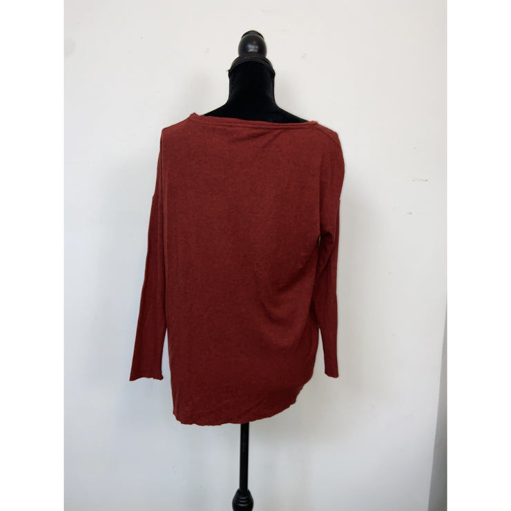Burgundy Longsleeve Top by Cos
