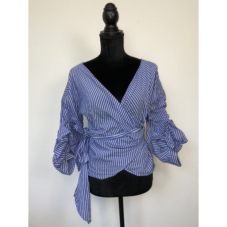 Striped Wrap Blouse by Zara