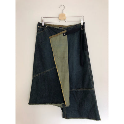 Denim Vintage Wrap Skirt