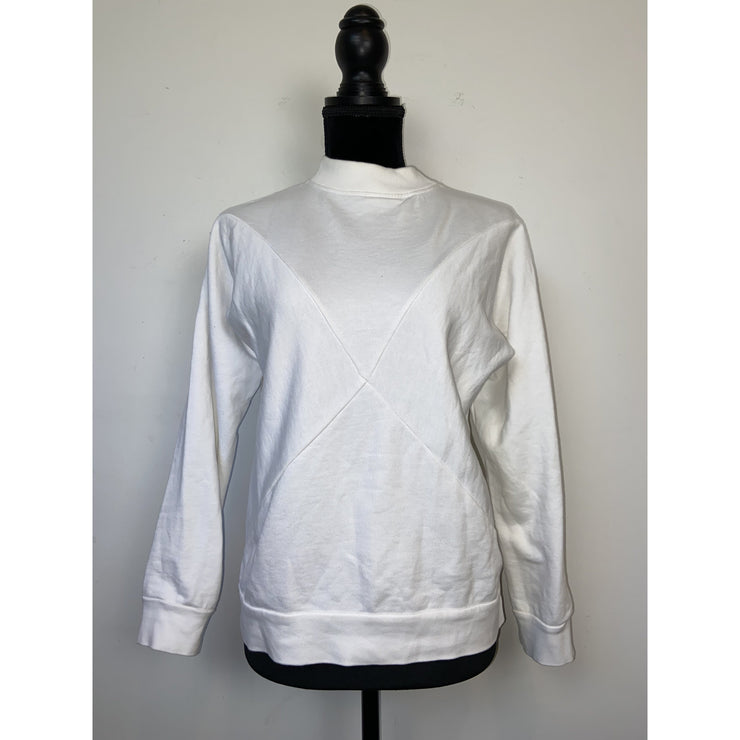 White Crewneck Sweatshirt by Toba