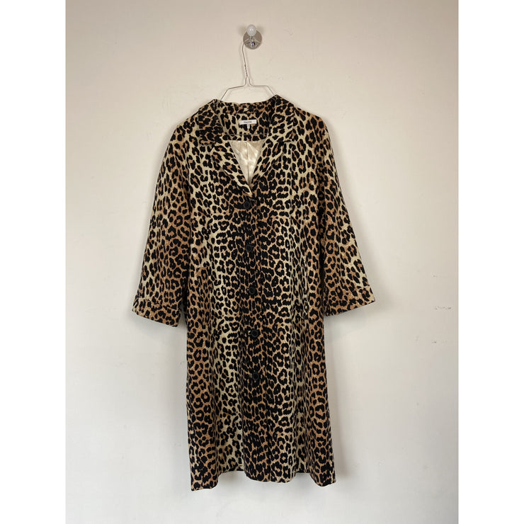Animal Print Coat by Ganni