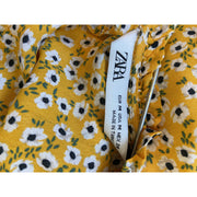 Yellow Floral Blouse by Zara