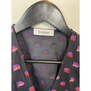 "Purple ""Amanor"" Wrap Blouse by Rodebjer"