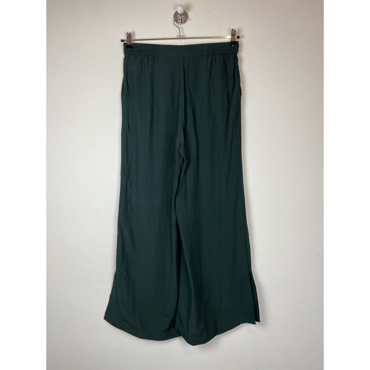 Dark Green Sigrid Twill Pants by Rodebjer