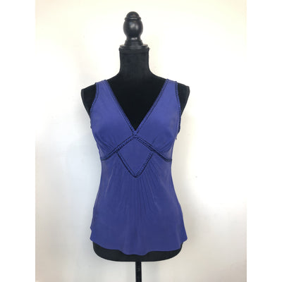 Royal Blue Sleeveless Silk Top by Ted Baker