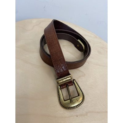 Leather Belt with Gold Buckle by Mulberry