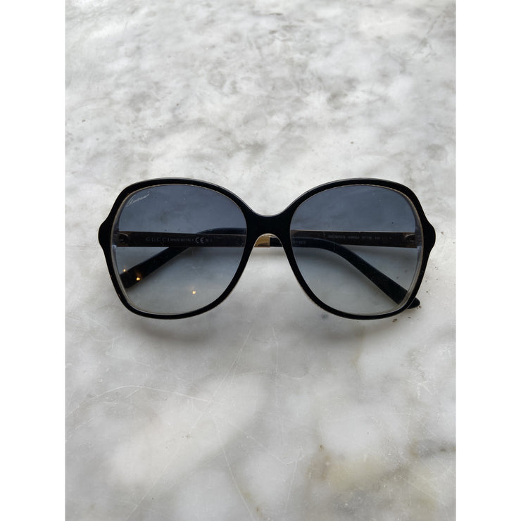 Black Oversized Sunglasses by Gucci