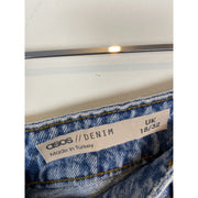 Blue High Waist Jeans by Asos