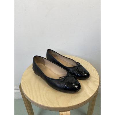 Black Ballet Flats by Chanel