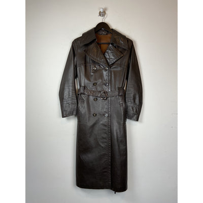 Dark Brown Vintage Trench Coat