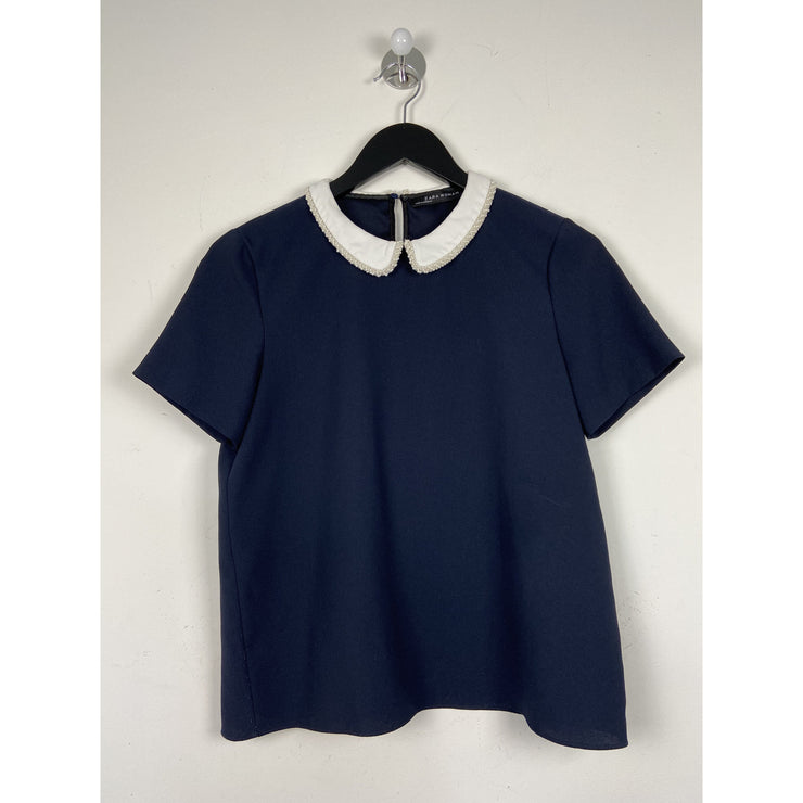 Navy Blouse by ZARA