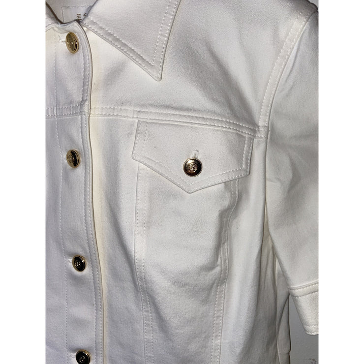 White Short-sleeved Jacket by Escada
