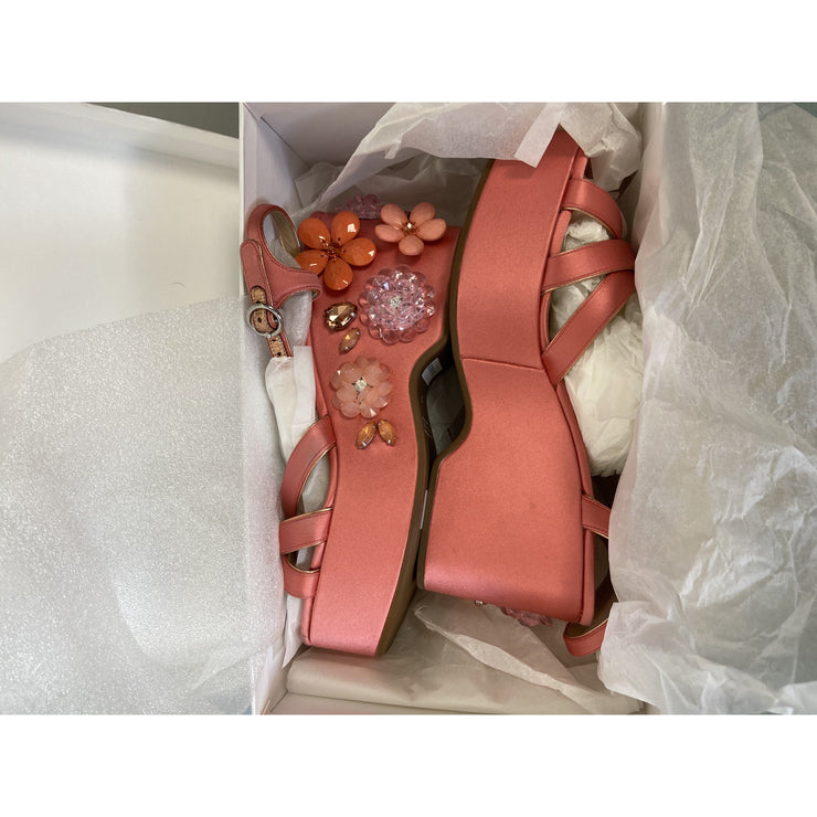 Pink Embellished Block Heels by Marc Jacobs