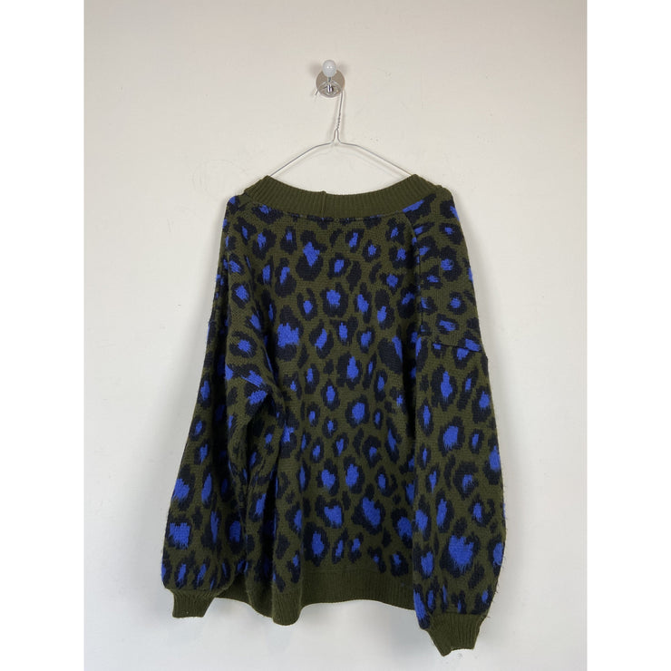 Animal Print Cardigan by Topshop