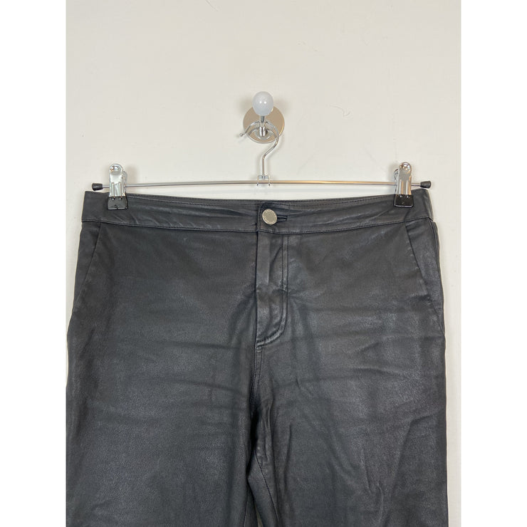 Black Cropped Leather Pants by 2NDDAY