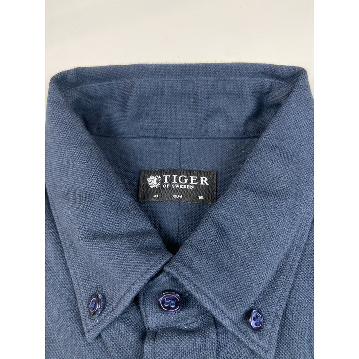 "Navy ""Slim Fit"" Overshirt by Tiger of Sweden"