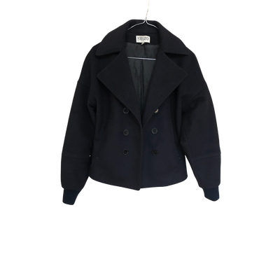 Navy Short Peacoat by Kenzo