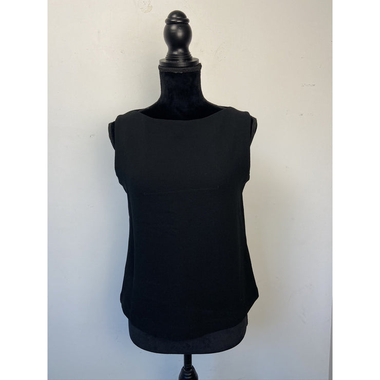 Black Sleeveless Top by iBlues
