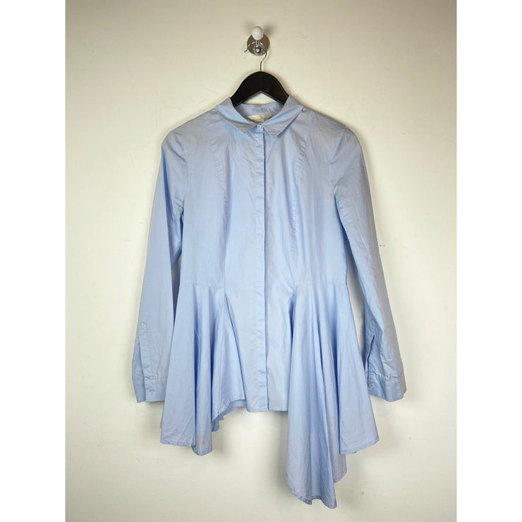 Blue Ruffle Shirt by H&M