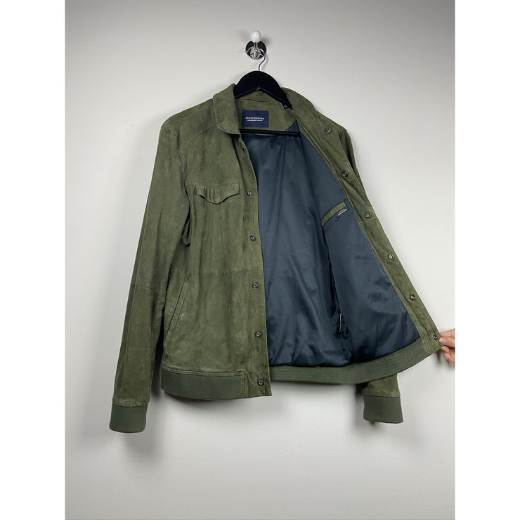 Olive Green Suede Jacket by Scotch & Soda
