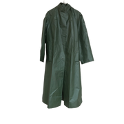 Long Dark Green Vintage Rain Coat
