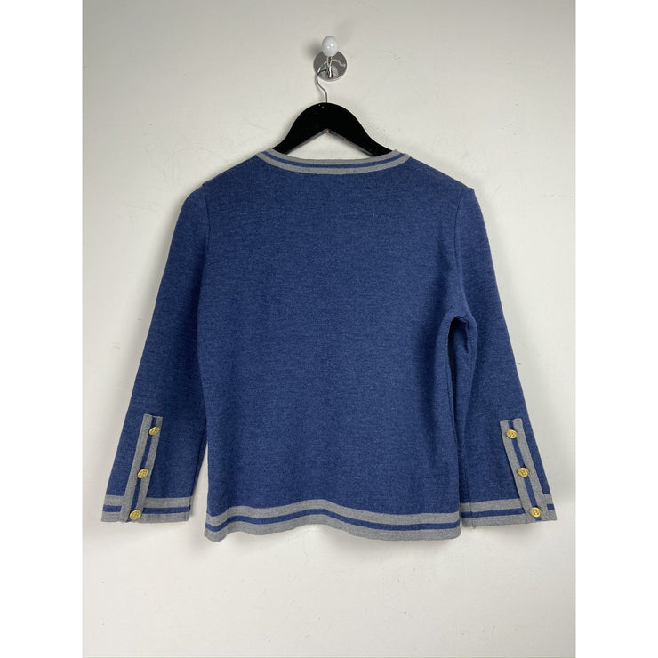 Blue Cardigan Knitwear by Busnel