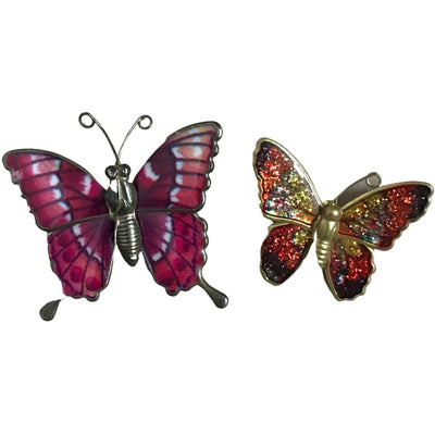 2 Vintage Butterfly Broches (set)